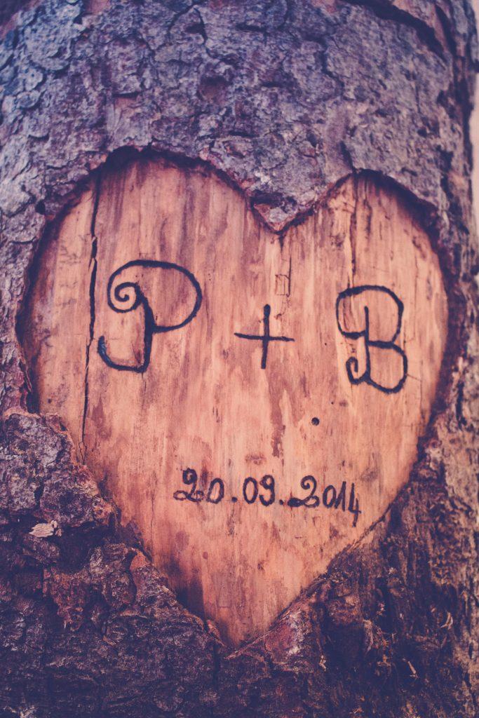 Urne en bois DIY mariage tronc