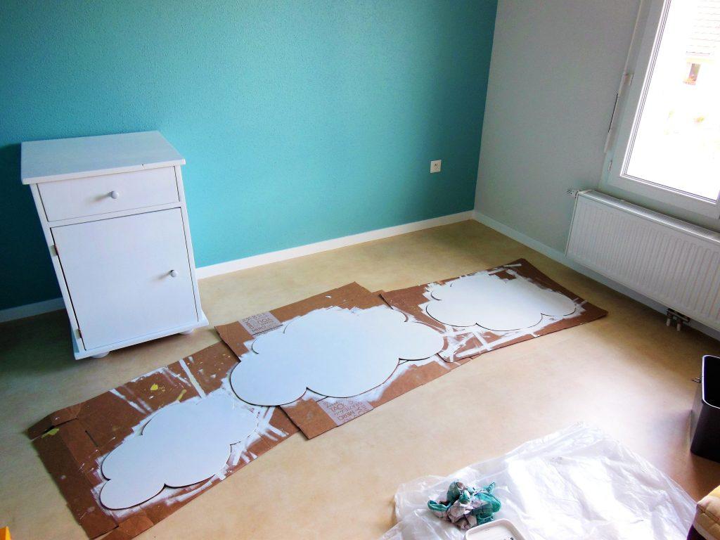 DIY nuage décoration murale déco chambre enfant bébé