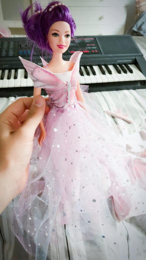 robe de poupée  facile  diy  princesse  cadeau