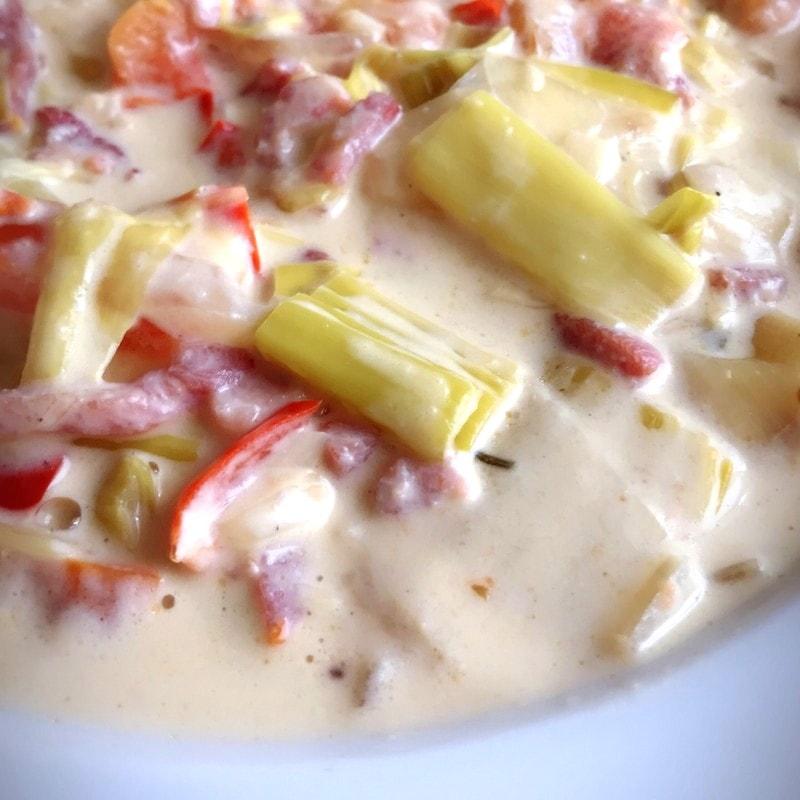 Recette saucé crème légumes